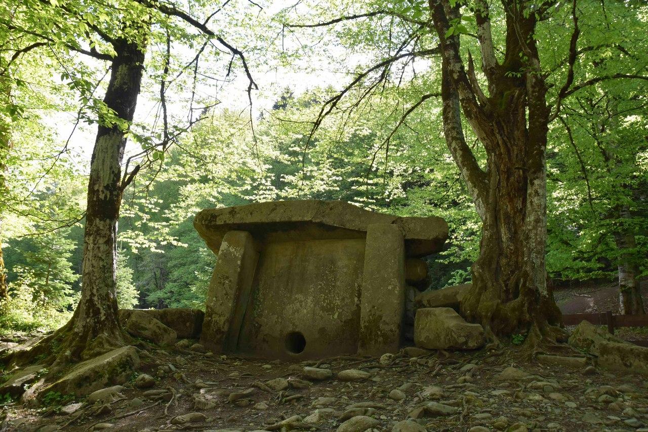 Дольмен (кордон Гузерпиль Кавказского заповедника)