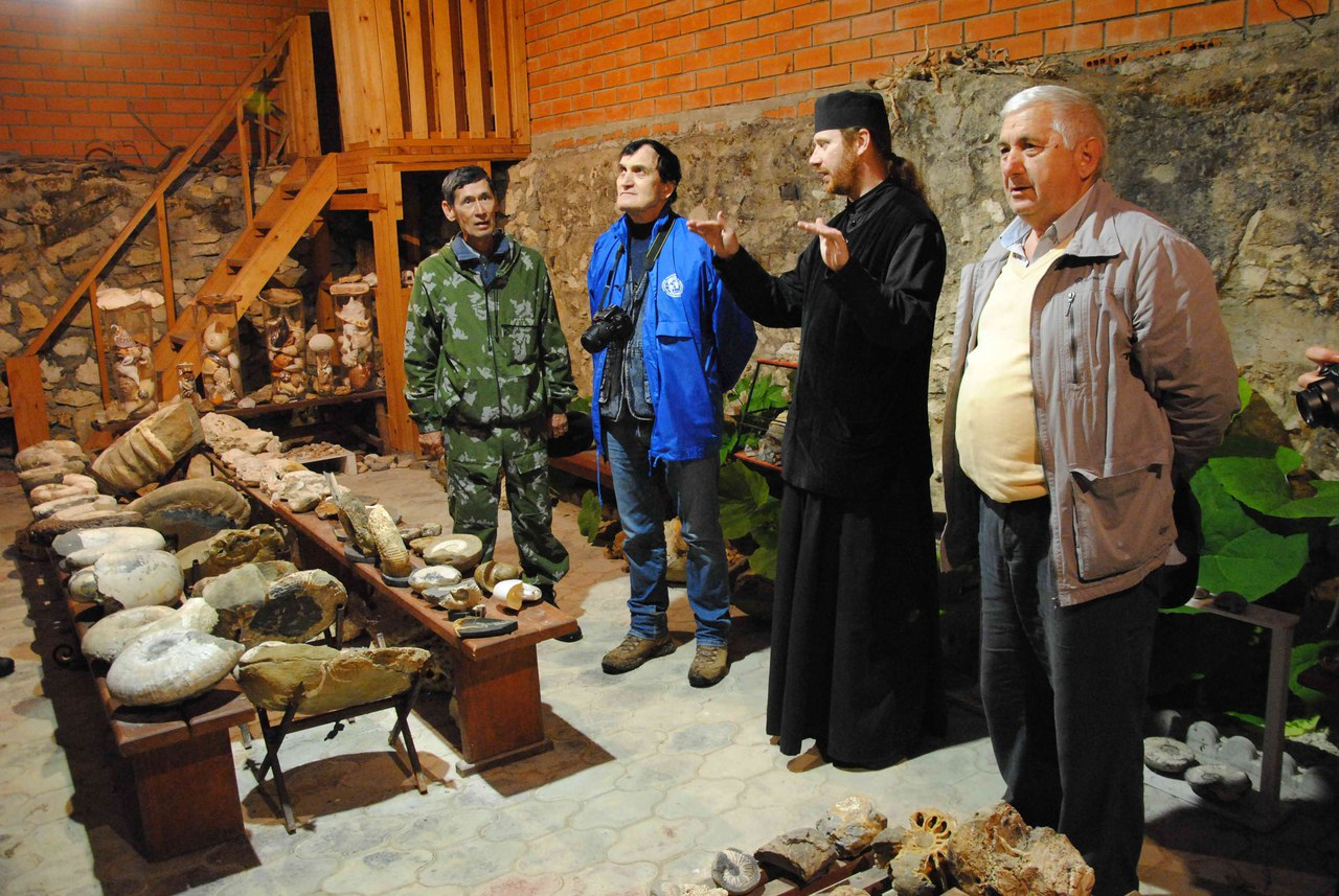 В геологическом музее Свято-Михайловского монастыря