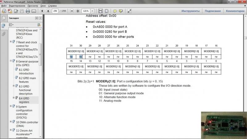 Урок 2- Мигание светодиодом с CMSIS