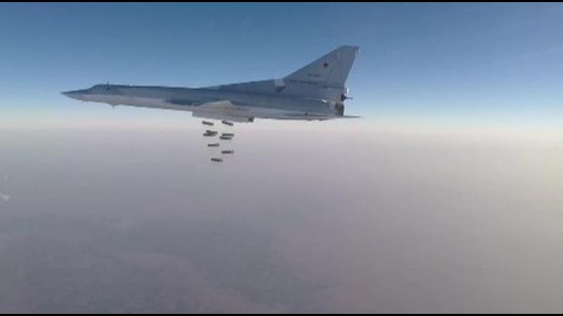 Ту-22 разбомбили игиловцев осколочно-фугасными боеприпасами
