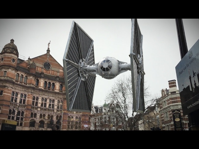 Star Wars Tutorial - Tie Fighters over Central London! - After Effects Tutorial ✔
