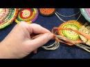 Craft School Oz - Starting a circle for a coiled basket using a magic circle.