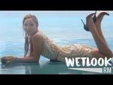 WETLOOK 13: Sexy girl swimming in white dress in the rain