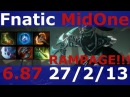 Dota 2 patch 6.87 Phantom Assassin RAMPAGE ! Fnatic MidOne 7900 MMR KDA - 27213