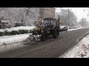 КП Благоустрій розчищало дороги міста від раптового снігу