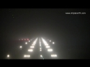 Airbus A320 Autoland automatic landing CAT IIIb VIE LOWW in winter at night