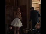 Белла Торн и Картер Дженкинс на съёмочной площадке.