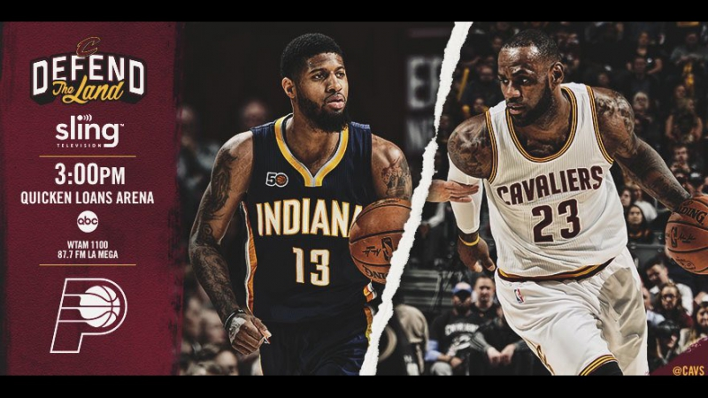 Game 1: Cleveland Cavaliers vs Indiana Pacers on Quicken Loans Arena 15.04.2017