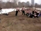 Русские против Дагестанцев 20 на 20 Уличная драка, бой