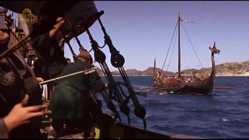 Викинги / The Vikings (1958). Абордажная схватка