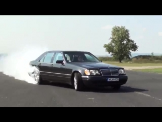 Mercedes S 600 V12 Biturbo 0-270km_h acceleration, and burnout _ KO 860