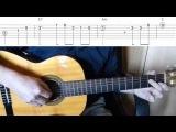 Claude Ciari - La Playa - Easy Guitar melody tutorial + TAB Guitar lesson