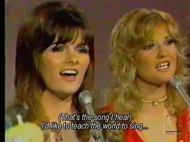 The New Seekers - I'd Like To Teach The World To Sing 1972 with Lyrics