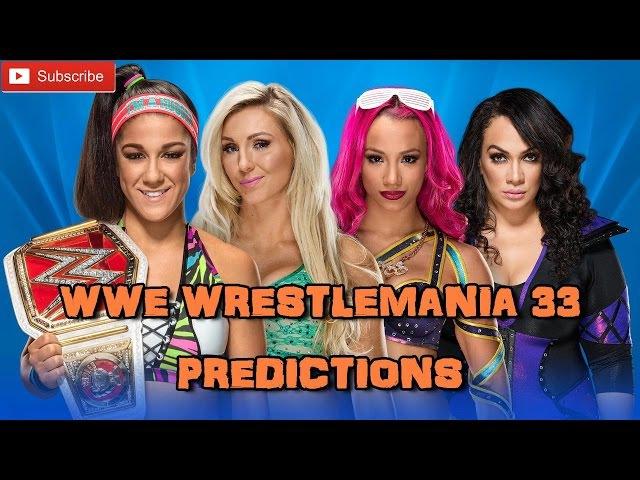 WWE Wrestlemania 33 Raw Women's Championship Bayley vs. Charlotte Flair vs. Sasha Banks vs. Nia Jax