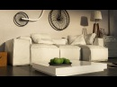 Cloth simulation 3ds Max Sofa with wrinkles tutorial