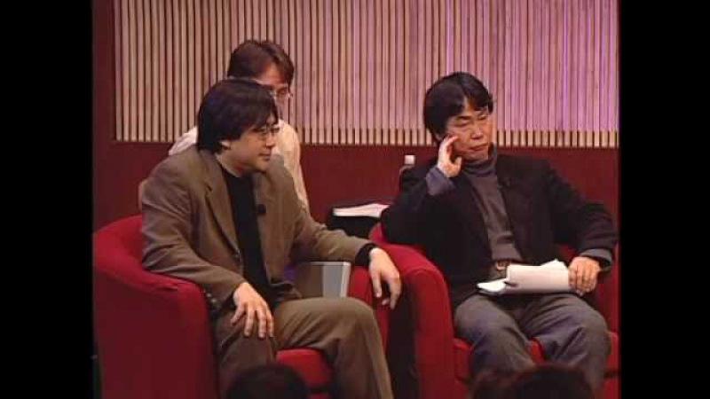 D.I.C.E. Summit 2002 - Bruno Bonnell, Brian Farrell, Satoru Iwata, Larry Probst, Shigeru Miyamoto
