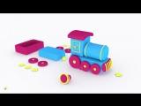Развивающие мультики для самых маленьких. Яйцо с сюрпризом. собираем паровоз. Мультфильм конструктор