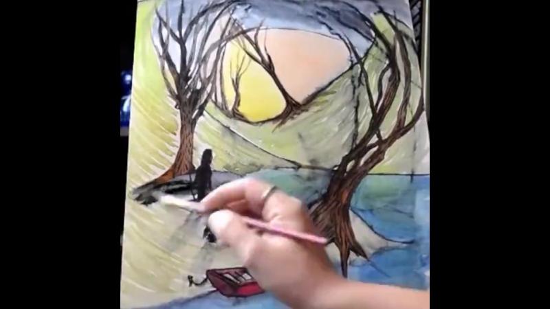 Моя дочь обожает рисовать, а я в свободное время дорисовываю ее картины. Вот такой творческий тандем! Пробуйте