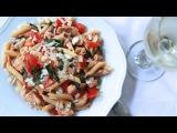 Tomato Basil Pasta Salad w Cajun Chicken