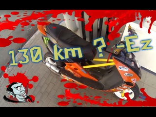 Yamaha Aerox 94cc on board//Как разогнать мопед до 130 км ? (1080-60fps)