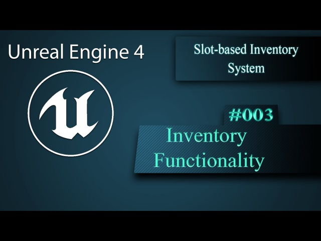 [Eng] Slot-based Inventory System Inventory Functionality 003