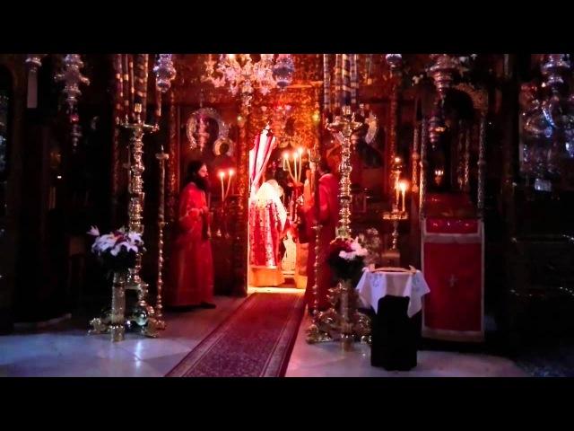 Афон Праздничная Божественная Литургия архиерейским чином в монастыре Дохиар
