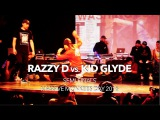 Razzy D vs. Kid Glyde Footwork Semi-Finals Massive Monkees Day 2016 #SXSTV