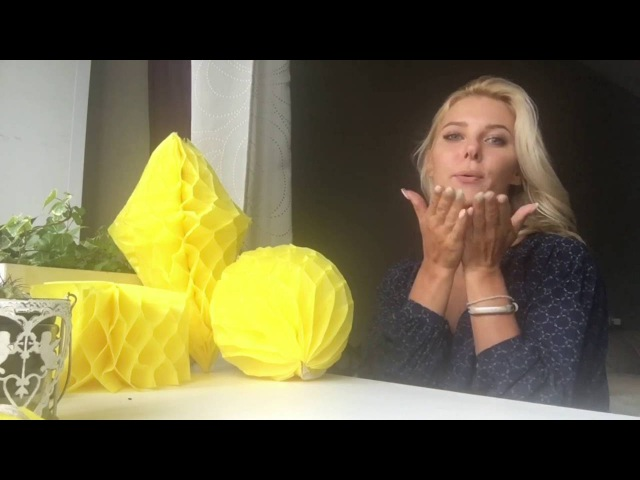 Бумажный шар / кристалл (Шары-соты.. Бумажный декор из тишью) Paper decor