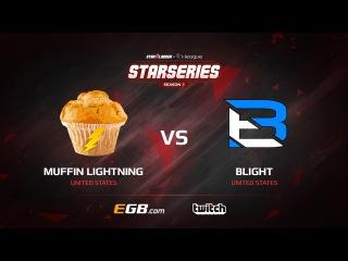 Muffin Lightning vs Blight, map 2 cobblestone, SL i-League StarSeries Season 3 NA Qualifier