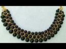 How To Make Designer Black Pearl Necklace Black Beeds Necklace DIY Chokar uppunutihome