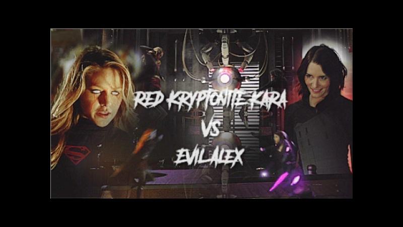Red Kryptonite Kara vs Evil Alex    DEVIL WITHIN