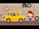 Cars and trucks on a picnic Kids' cartoon with car doctor