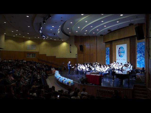 Марш Георгия Свиридова в исполнении сводного духового оркестра. Череповец, 22 апреля 2017 г.