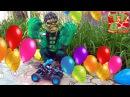 Hulk, Игорек и Монстр Tрак Квадроцикл лопают шары. Игры для детей. Видео для Мальчиков - Халк