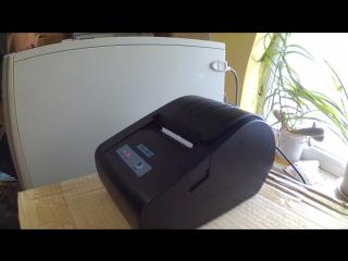 Скорость печати POS-принтера с COM-портом на скорости 57600