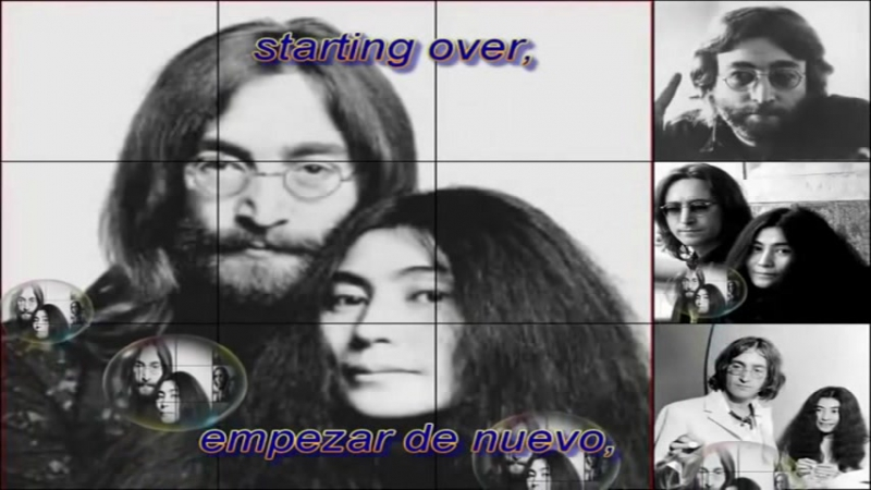 John Lennon (Just like) Starting Over Ingles Español (Lyrics) HD[1]