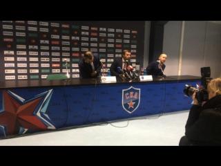 Пресс-конференция после 4-го матча СКА - «Металлург» Мг (3:2) в финале Кубка Гагарина