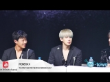 VK07.01.2017 Monsta X press conference in The First Asia Fan Meeting in Bangkok 2017 @ EnTown
