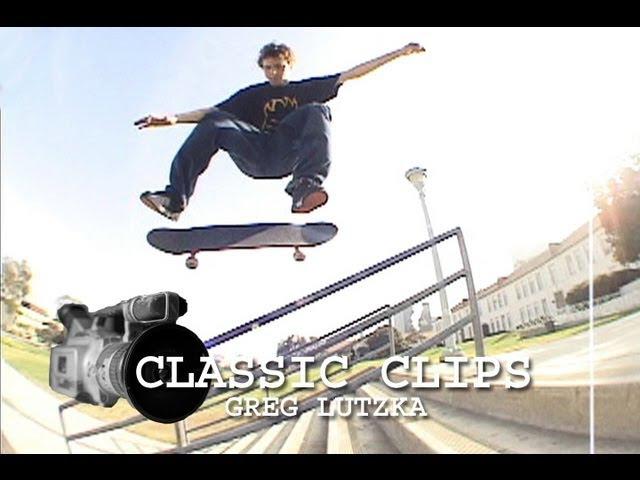 Greg Lutzka Skateboarding Classic Clips 42 San Deguito Rail
