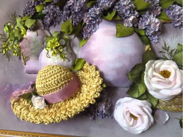 Часть 2. Еmbroidery ribbons. Детали вышивки лентами. Оксана Коротич. Цветы, птицы, розы, по ...