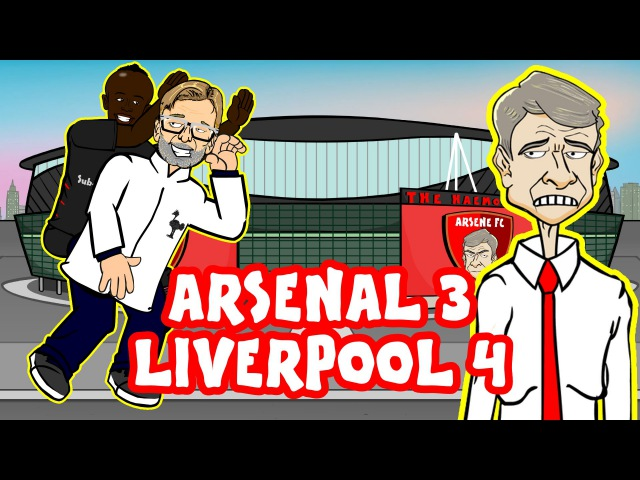 Arsenal vs Liverpool in UNDER 60 SECONDS! 3-4 (ALL GOALS Highlights 2016)