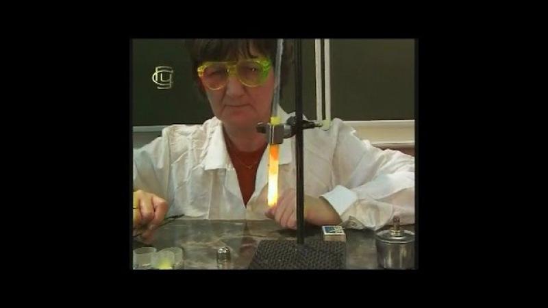 Опыты по химии. Получение кислорода из селитры, обнаружение кислорода углем и серой