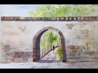 Рисуем камни.ч. 2 Мост, Арка. Акварель Stones part2. Arche, Bridge