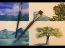 Акварель Очень наглядно Какие кисти покупать Все для начинающих Watercolor brushes