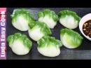 Вкусные ЦВЕТНЫЕ ПЕЛЬМЕНИ рецепт Китайские ПЕЛЬМЕНИ на пару - Spinach Green Dumpling làm Bánh h