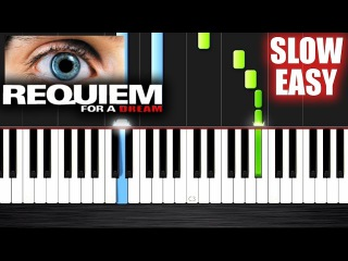 Requiem For a Dream - SLOW EASY Piano Tutorial by PlutaX