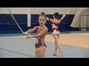 Соревнования по художественной гимнастике Снежная королева 2016. Часть 3. Разминка