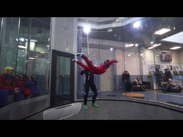Кирюхин полёт в аэротрубе FlyStation 22.01.2017 14:58