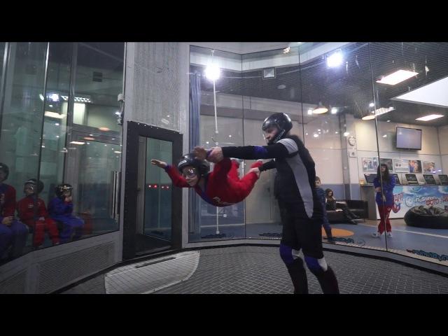 Кирюхин полёт в аэротрубе FlyStation 22.01.2017 14:45