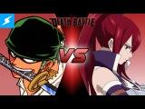 Zoro VS Erza | DEATH BATTLE! (One Piece VS Fairy Tail)